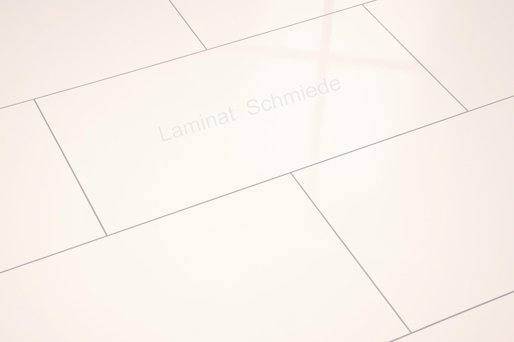 ELESGO Laminat Superglanz Hochglanz Maxi V5 weiß white ...